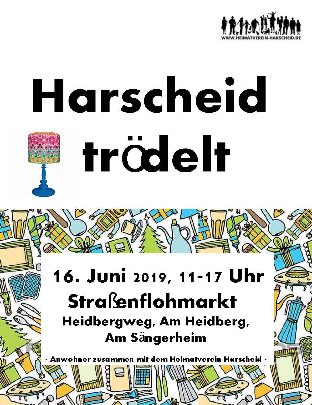 Straßenflohmarkt Harscheid 2019 Plakat
